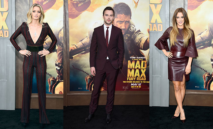 Abbey Lee Kershaw, Nicholas Hoult and Riley Keough at the 'Mad Max: Fury Road' premiere.