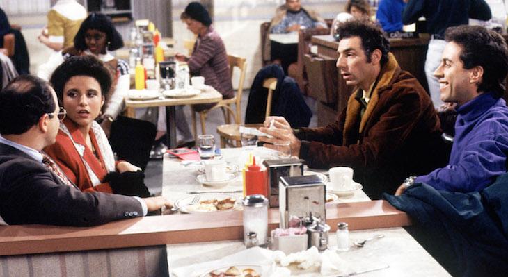 SEINFELD, Jason Alexander, Julia Louis-Dreyfus, Michael Richards, Jerry Seinfeld. Ep. 'The Subway' a