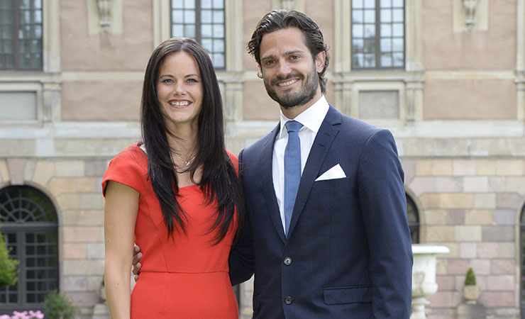 Sofia Hellqvist and Prince Carl Philip after announcing their engagement in 2014.