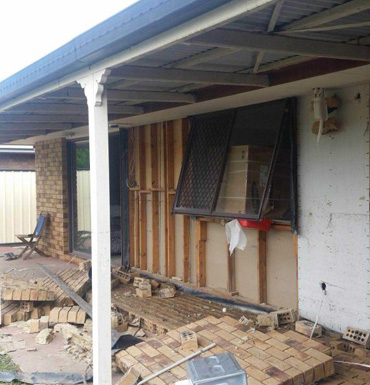 Deception Bay homes have sustained major damage.