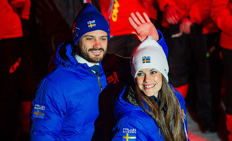 Carl Philip and Sofia Hellqvist at the Nordic World Ski Championships earlier this year. Photo: Getty