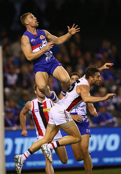 Jake Stringer soared to new heights. Photo: Getty