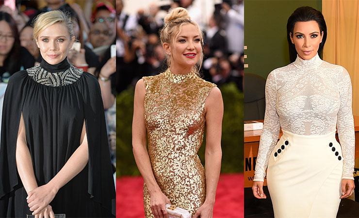 Elizabeth Olsen, Kate Hudson and Kim Kardashian take their turtlenecks to the red carpet.