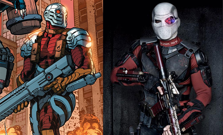 Will Smith (right) suited up as hired assassin Deadshot.