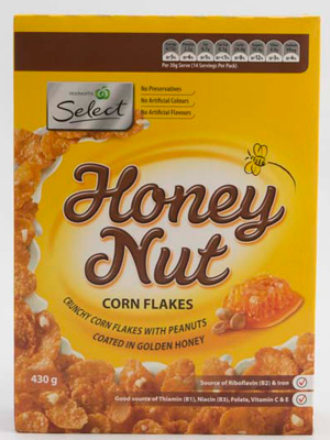 woolworths-select-honey-nut-cornflakes