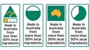 Proposed country of origin food label designs, June 2015.