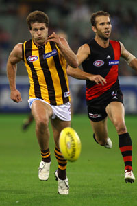 Campbell Brown loved playing against Essendon. Photo: Getty