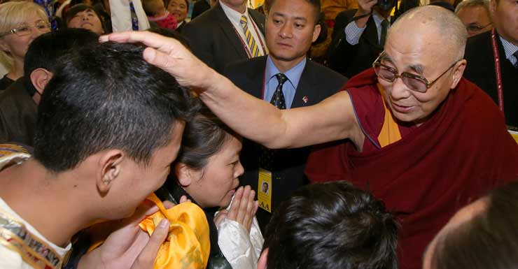 The 14th Dalai Lama scored a better reception at Sydney Airport. Source: AAP