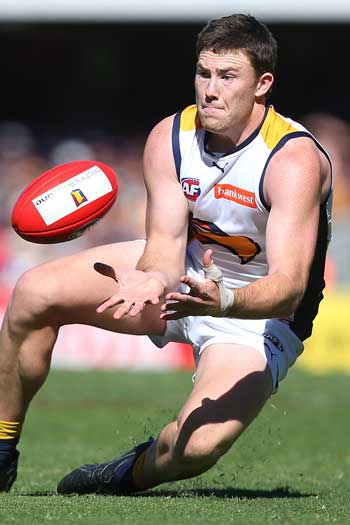 Jeremy McGovern has been herculean down back for West Coast. Photo: Getty