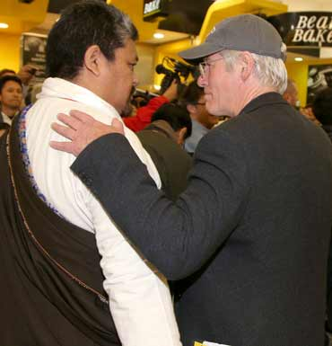 Richard Gere is accompanying the Dalai Lama in Australia. Source: AAP