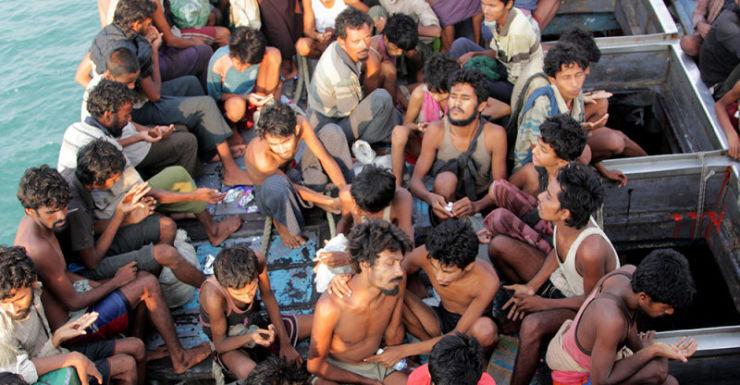 Indonesia helped Myanmar migrants last week, rejected by Aust.