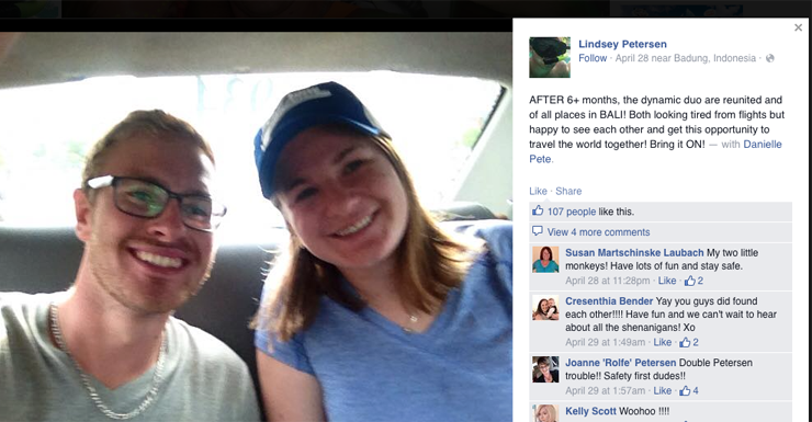 Authorities identified Lindsey and Danielle Petersen as two accused Canadians.