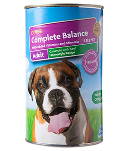 Coles generic pet food