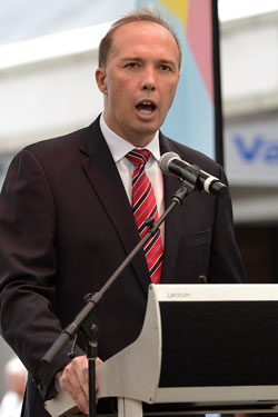 peter dutton immigration and border protection minister