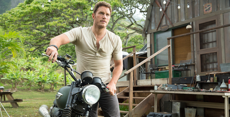 Chris Pratt stars in this year's Jurassic Park remake.