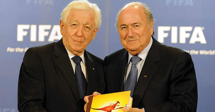 Frank Lowy and Sepp Blatter