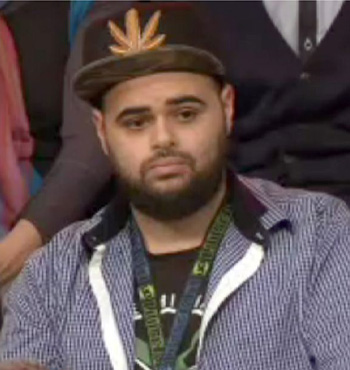 Zaky Mallah in the Q&A audience.