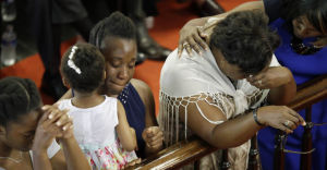 Mourners at Emanuel African American Episcopal Church.