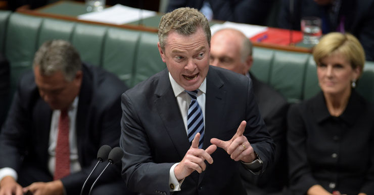 Mr Pyne said the government had different levels of responsibility for schools.
