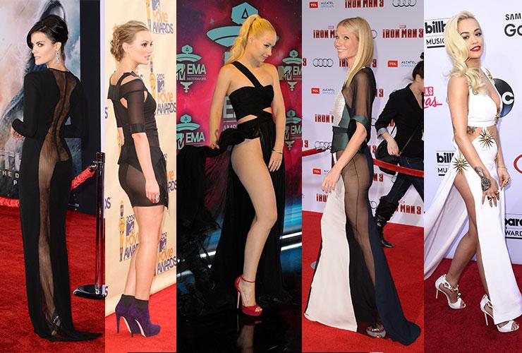 L-R: Jaimie Alexander, Leighton Meester, Iggy Azalea, Gwyneth Paltrow and Rita Ora show us how it's bum...ahem, done.