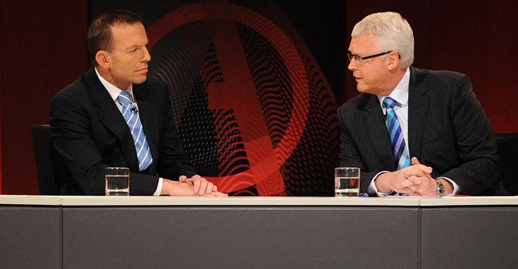 Tony Abbott and Tony Jones