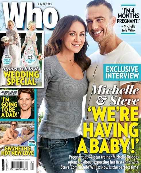The pair announced they were expecting via Who magazine.