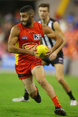 One man who does play on instinct: Gold Coast's Adam Saad. Photo: Getty