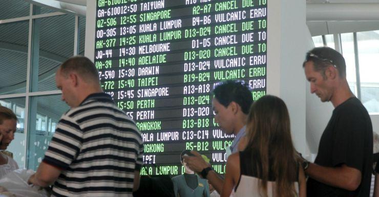 Bali flights delayed