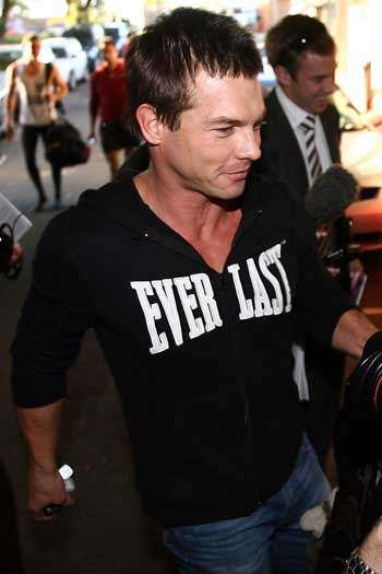 Ben Cousins in 2008, when he was suspended for 'bringing the game into disrepute'. Photo: Getty