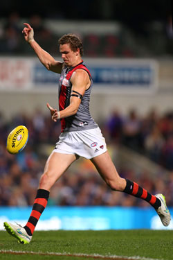 Joe Daniher's kicking for goal is of great frustration for Essendon fans. Photo: Getty
