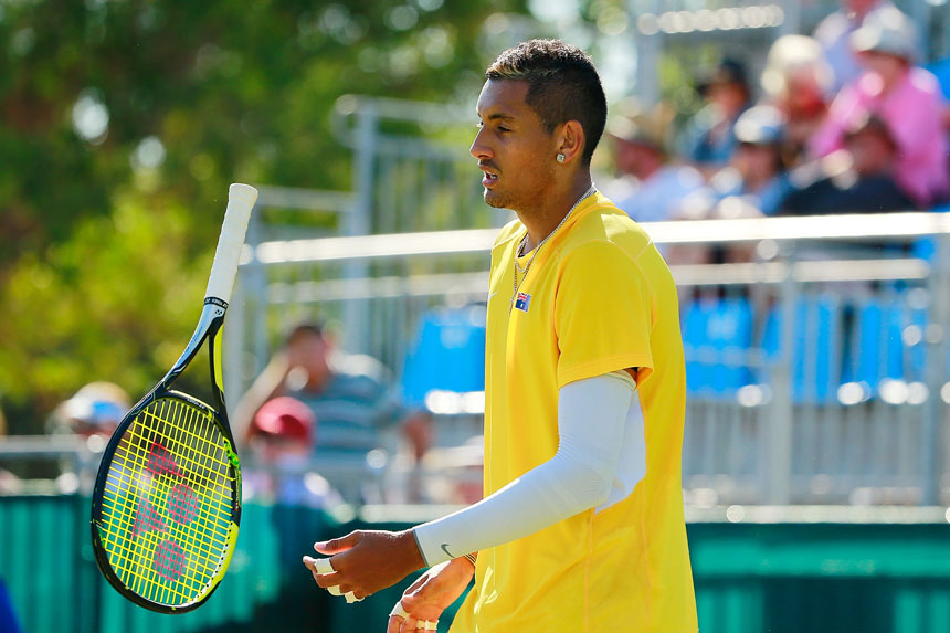 Kyrgios will not play in the tie.