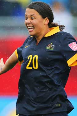 The Matildas were at the centre of a recent gender pay dispute at the recent women's world cup. Photo: Getty