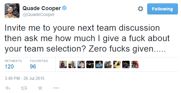 Quade Cooper Twitter ran.