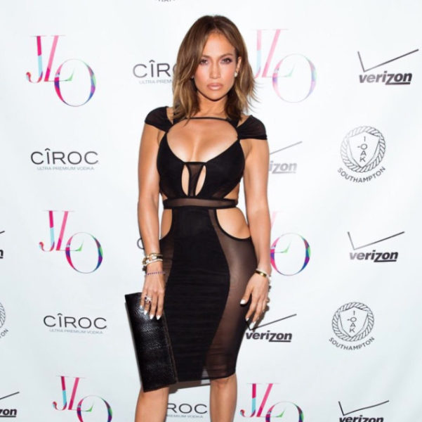 J.Lo's eye-catching birthday dress. Photo: Instagram