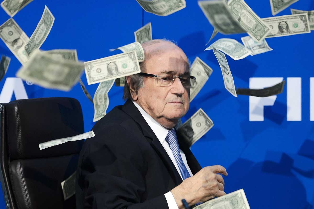 Sepp Blatter is being blasted from his 17-year job. Photo: Getty