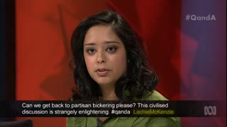 Q&A panelist Trisha Jha. Photo: ABC