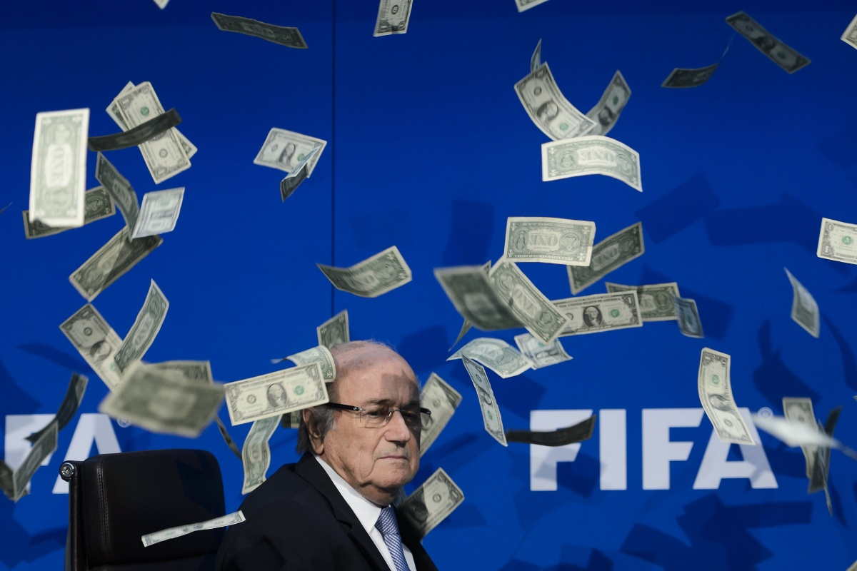 sepp blatter money comedian cash. Getty. Zurich. FIFA.