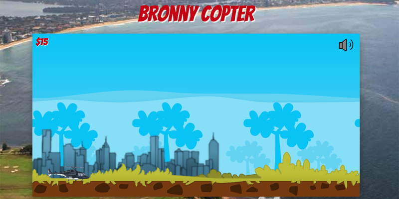 The Bronny Copter game.