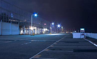 Dark car park