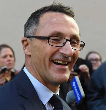 Greens Leader Richard di Natale will be smiling with the record primary vote the poll has revealed.