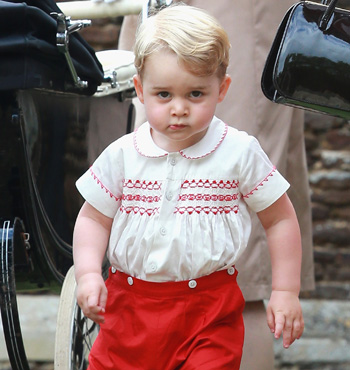 Prince George stole the show.