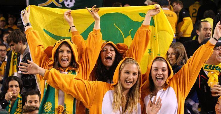 australian fans celebrating Getty