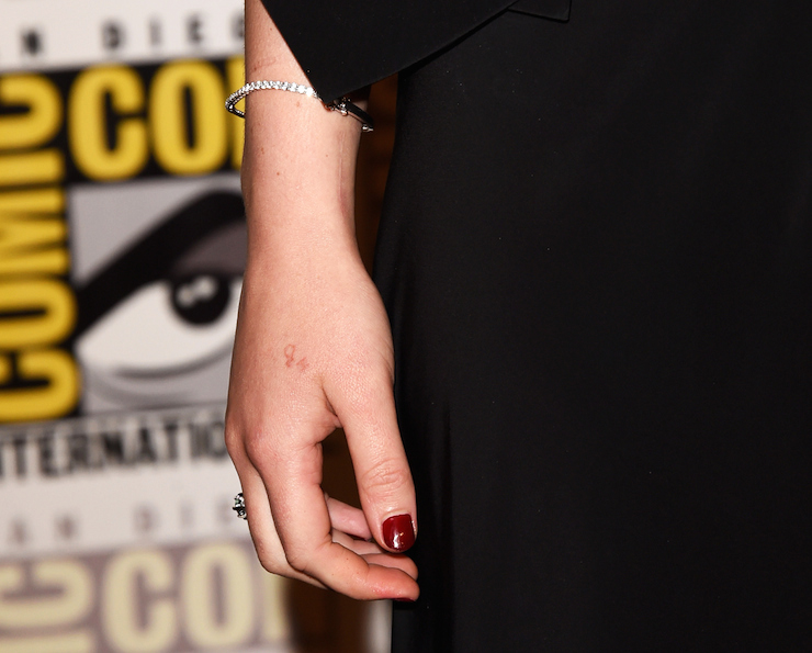 J-Law's skin-coloured taft is barely visible. Photo: Getty