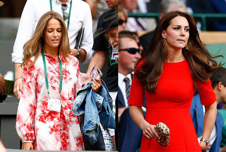 Who wore it better: Kim Murray or Kate Middleton? Photos: Getty