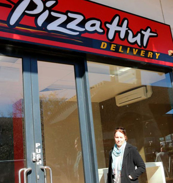 Lyn Bayakly's Pizza Hut store in the Perth suburb of Butler was closed last November.