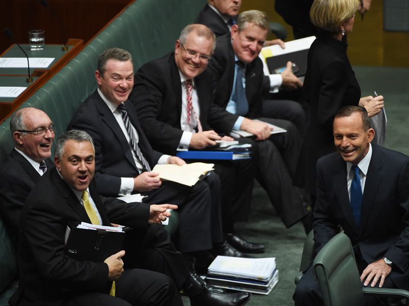 The Coalition's front bench has been criticised in the past for being male heavy.