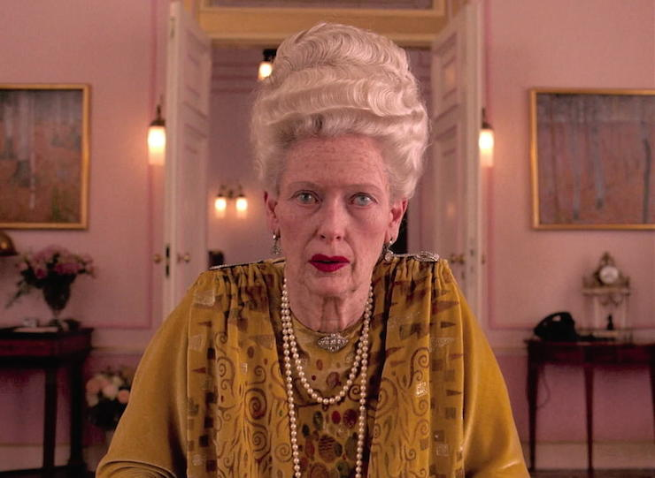Swinton as the 84-year-old Madame D in 'The Grand Budapest Hotel'.
