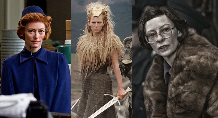 L-R: As a social services worker in Moonrise Kingdom (2012), playing the White Queen in The Chronicles of Narnia series (2005-2010) and as an evil minister in Snowpiercer (2013).