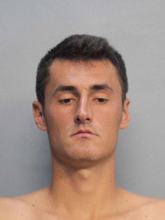 bernard tomic mugshot arrest