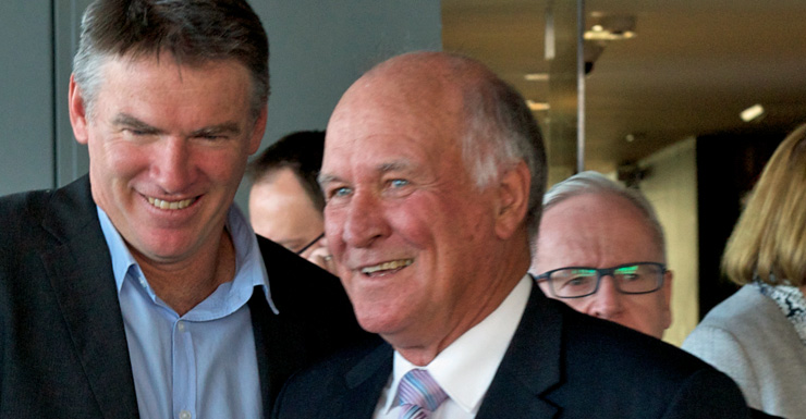 Rob Oakeshott and Windsor were pivotal to the Gillard govt.. Photo:AAP